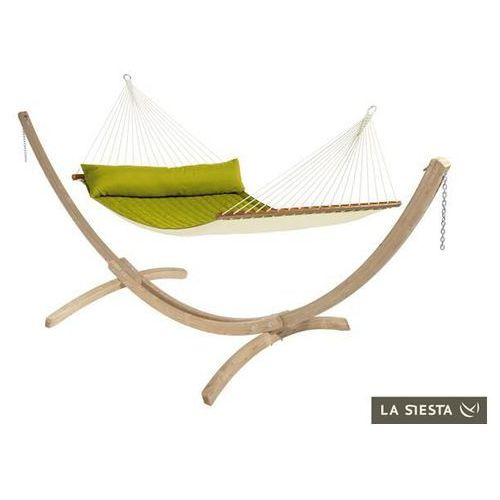 La siesta Zestaw hamakowy: hamak z drążkiem alabama ze stojakiem canoa, zielony nqr14cns201