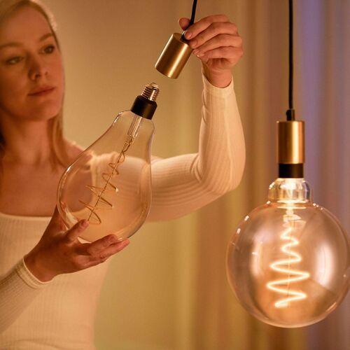 WiZ LED filament PS160 E27 6,5W bursztynowa (8718699786854)