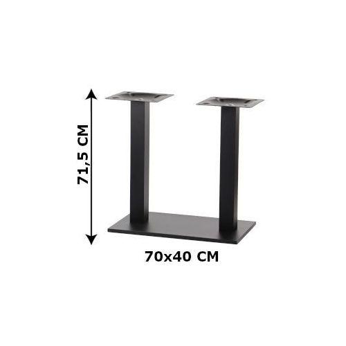 Podstawa stolika podwójna SH-2012/B, 70x40 cm (stelaż stolika), kolor czarny, SH-2012/B