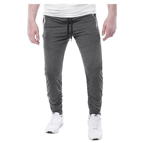 Spodnie męskie dresowe joggery atc1700 - antracytowe, Risardi, S-XXXL