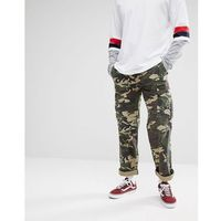 Dickies new york camo cargo trousers in relaxed fit - green