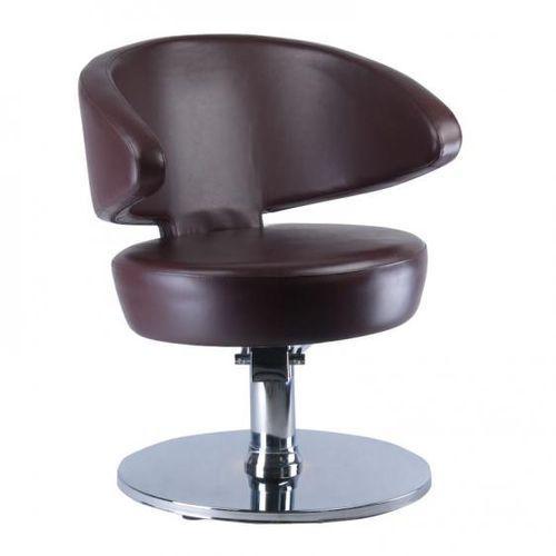 Beauty system Fotel fryzjerski ferro bd-1132 brązowy