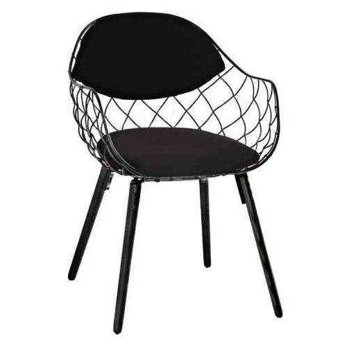Krzesło demon czarne - metal, ekoskóra, podstawa drewniana marki King home