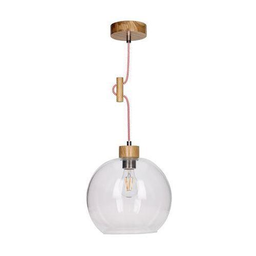 Spotlight Lampa wisząca zwis oprawa spot light svea 1x60w e27 dąb/czerwono-biała 1356570 (5901602351161)