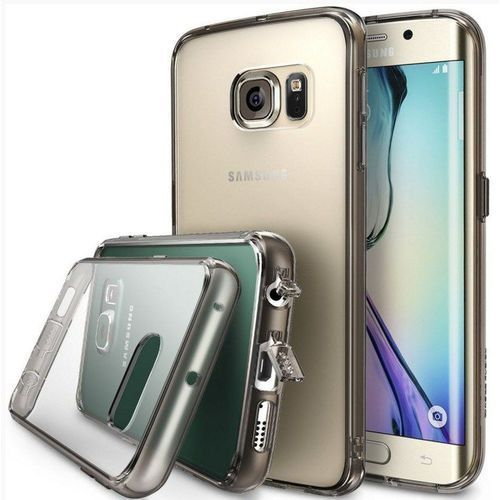 Obudowa Rearth | Etui Ringke Fusion Case + Folia ochronna | Samsung Galaxy S6 Edge | kolor Smoke Black - Smoke Black, kolor czarny