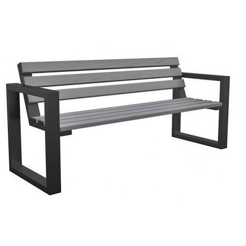 Ławka ogrodowa norin gray 150cm marki Producent: elior