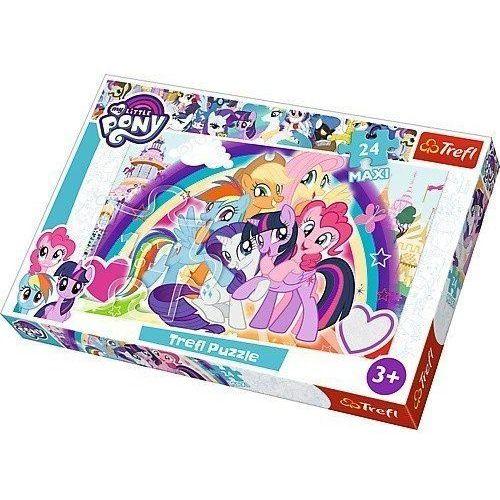 Puzzle 24 elementy Maxi My Little Pony, Szczęśliwe kucyki