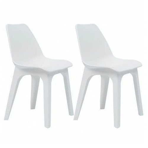 Krzesła ogrodowe Abila 2 szt - białe, vidaxl_45610