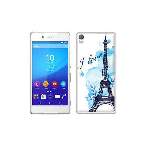 etuo Fantastic Case - Sony Xperia Z3+ - etui na telefon Fantastic Case - niebieska wieża eiffla, kolor niebieski