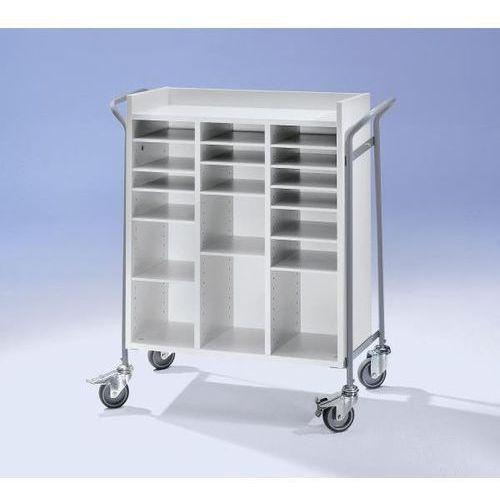 Wózek biurowy, na pocztę, nośność 150 kg, dł. x szer. x wys. 950x455x1015 mm. no marki Wilhelm ebinger