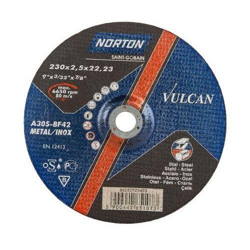 Tarcza do cięcia t42 230 x 2.5 x 22.23 stal vulcan marki Norton vulcan