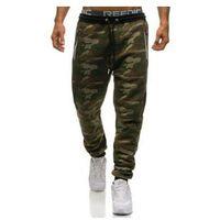 Spodnie męskie dresowe joggery moro multikolor Denley 3783A, dresowe