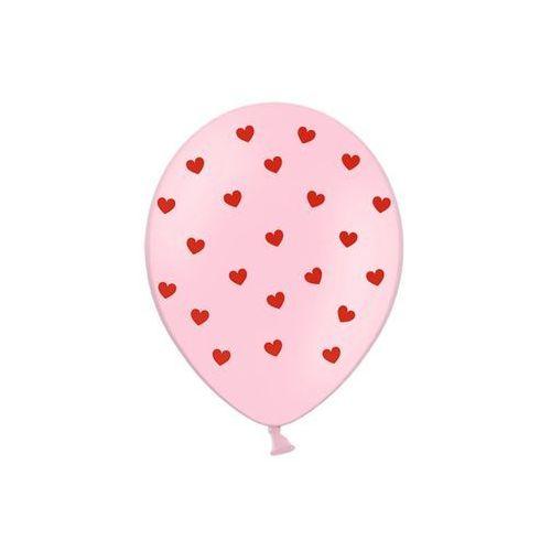 Balony z nadrukiem serduszka na walentynki - 30 cm - 50 szt. marki Party deco