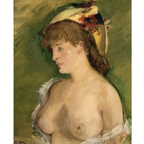 Wally - piękno dekoracji Obraz the blonde with bare breasts (la blonde aux seins nus) 1878 edouard manet