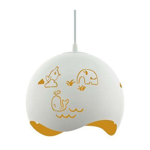 Lampa wisząca laurina 97392 sufitowa dziecięca 1x60w e27 biało/żółta marki Eglo