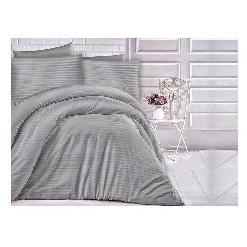 Pościel satyna jednobarwna luxury 220x200 (cizgili grey) - negocjuj ceny marki Darymex