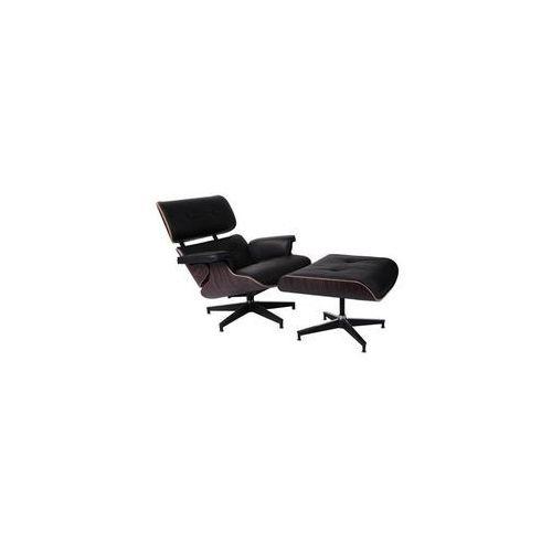 Fotel vip z podnóżkiem - czarny ||ebony marki D2.design
