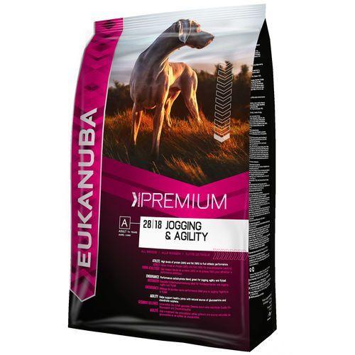 12/15 kg Eukanuba + 270 g Pedigree DentaStix Fresh gratis! - Adult Jogging & Agility, 15 kg