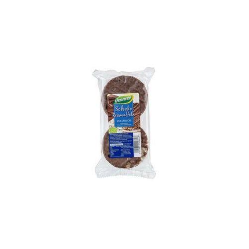 Dennree (dżemy, miody, herbaty) Wafle ryżowe z mleczną czekoladą bezglutenowe bio 100 g - dennree (4021851427439)