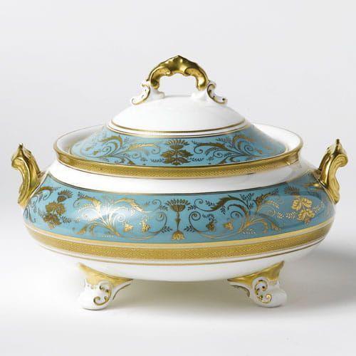 Royal Crown Derby Regency Turquoise Waza mała
