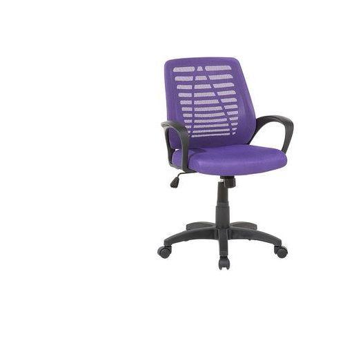 Krzesło biurowe fioletowe regulowana wysokość mayor marki Beliani