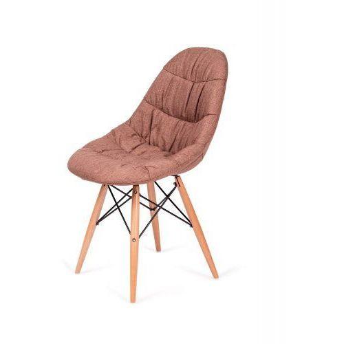 Krzesło nowoczesne RUGO brązowe tkanina (5900000019345)