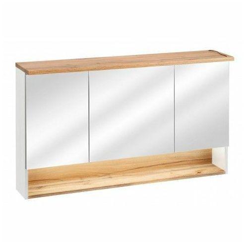 Szafka łazienkowa z lustrem monako 4x - biały marki Producent: elior
