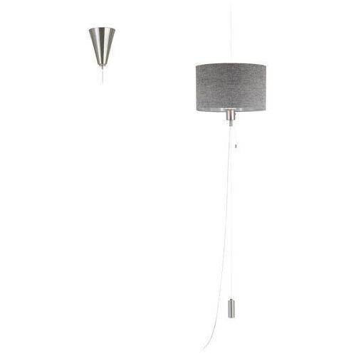 Lampa wisząca romao 1 96156 zwis oprawa z abażurem 1x60w led szara marki Eglo