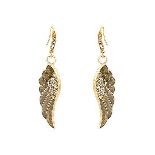 Kolczyki złote skrzydła