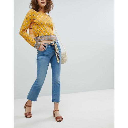 Free People Belt Out Crop Bootcut Jeans - Blue, bootcut
