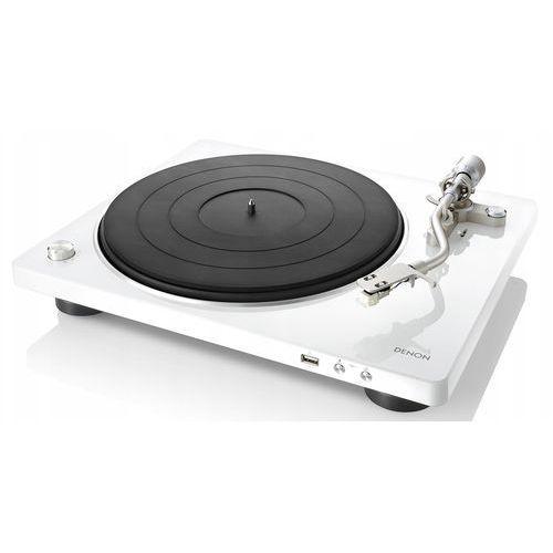 Denon dp-450usb biały - automatyczny gramofon analogowy | usb | raty 0% | gwarancja 3-lata