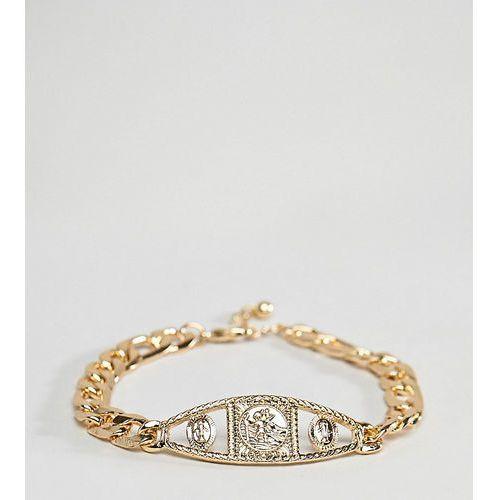 Asos design plus vintage style medallion chain bracelet in gold - gold