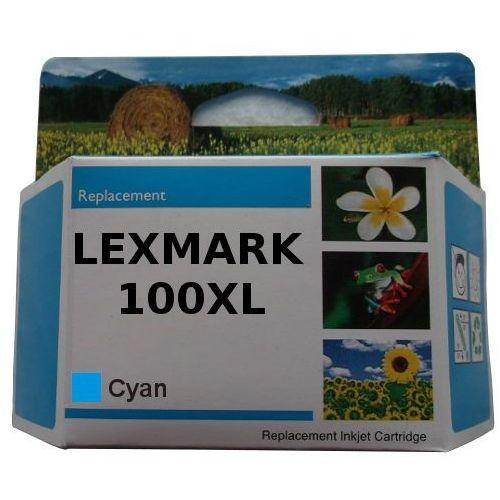 Zastępczy atrament lexmark 100xl [14n1069e] cyan 100% nowy marki Orink