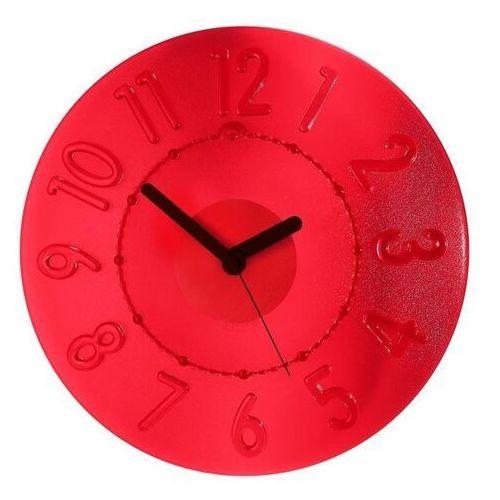 Guzzini - zegar ścienny time2go - casa - czerwony - czerwony