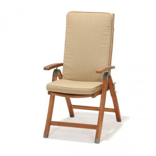Krzesło składane z podłokietnikami z poduszką Catalina (5705820258925)