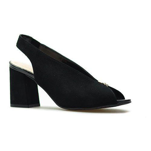 Sandały 8097/21 czarne zamsz, Sala
