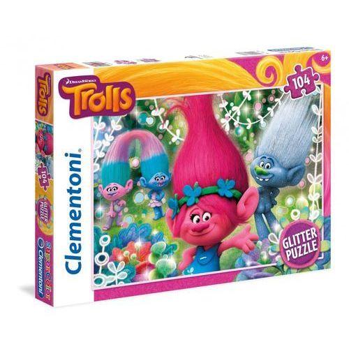 104 elementy glitter trolls marki Clementoni
