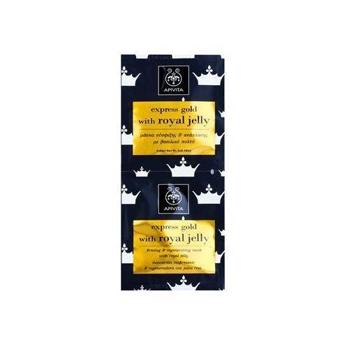 Apivita Express Gold Royal Jelly maseczka do twarzy ujędrniająco-regenerująca 2 x 8 ml