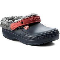 Crocs Kapcie - classic blitzen iii clog k 204655 navy/slate grey