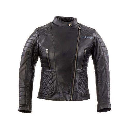 W-tec Damska skórzana kurtka motocyklowa corallia, czarny, xxl