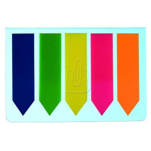 Zakładki D.rect 45 x 12mm 25 kartek 5 kolorów neonowych, strzałki (5907814635235)
