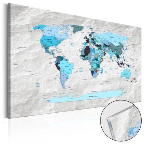 Obraz na szkle akrylowym - Mapa świata: Błękitne pielgrzymki [Glass]