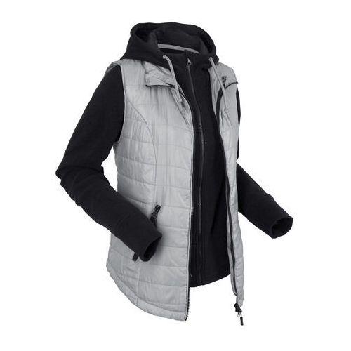 Kamizelka outdoorowa 3 w 1 z wyjmowaną bluzą z polaru szary marki Bonprix