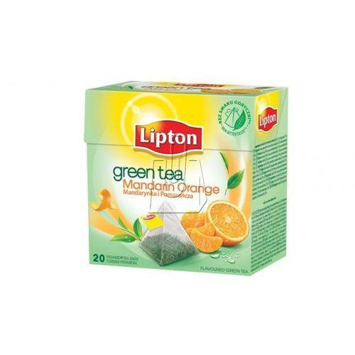 Lipton  20szt mandarynka, pomarańcz herbata zielona ekspresowa piramidki