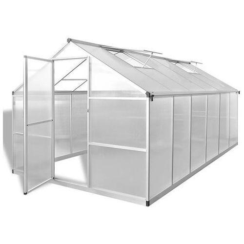 szklarnia ogrodowa ze wzmacnianą aluminiową ramą 9,025 m2 marki Vidaxl