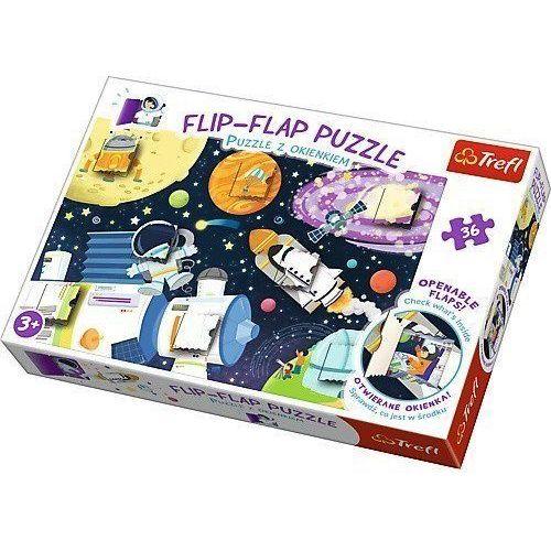 Trefl Flip-flap puzzle z okienkiem 36 kosmos (5900511142723)