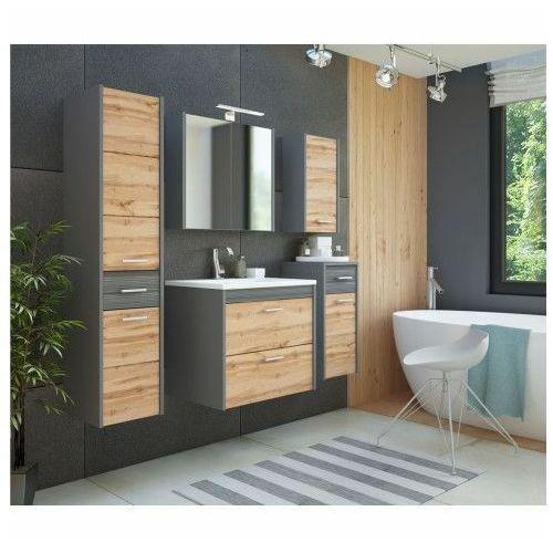 Komplet wiszących szafek łazienkowych - Madryt 2Q Antracyt