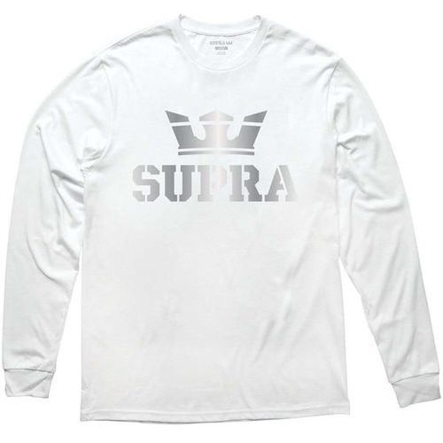 Koszulka - above longsleeve tee white/silver (155) rozmiar: xl marki Supra
