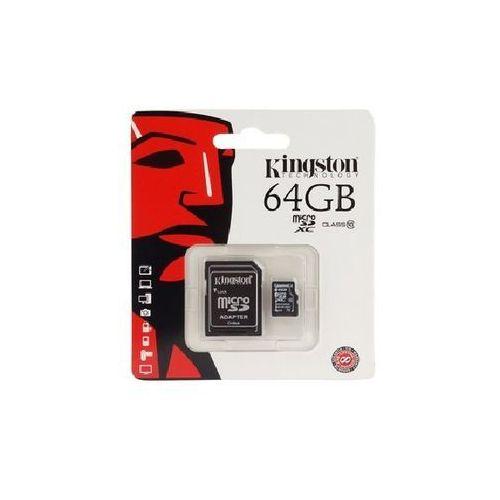 Karta pamięci microsdhc 64gb class 10 marki Kingston