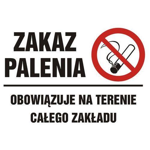 Zakaz palenia papierosów elektronicznych na terenie całego zakładu marki Top design